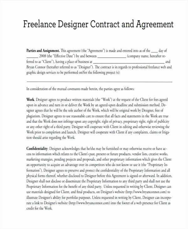 Graphic Design Contract Template Pdf Best Of Graphic Design Contract Sample Elegant Graphic Design