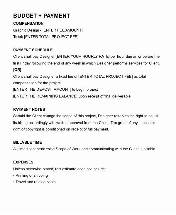 Graphic Design Contract Template Pdf Inspirational Freelance Contract Templates 7 Free Word Pdf format