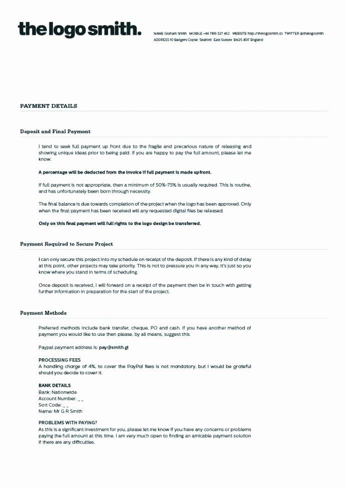 Graphic Design Contract Template Pdf Inspirational Graphic Design Contract Template Pdf Free Freelance