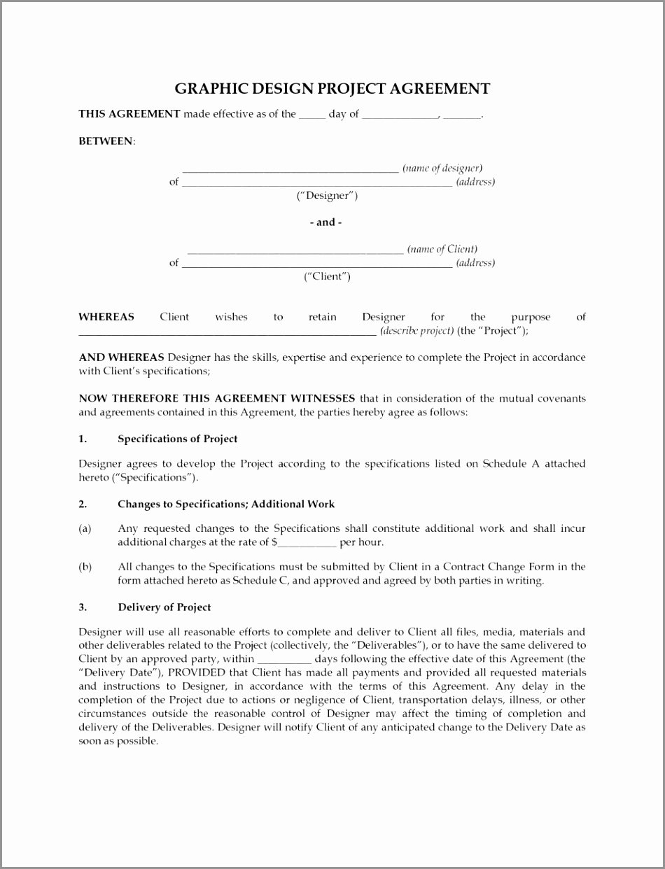 Graphic Design Contract Template Pdf Luxury 7 Freelance Graphic Design Contract Template Eyeoi