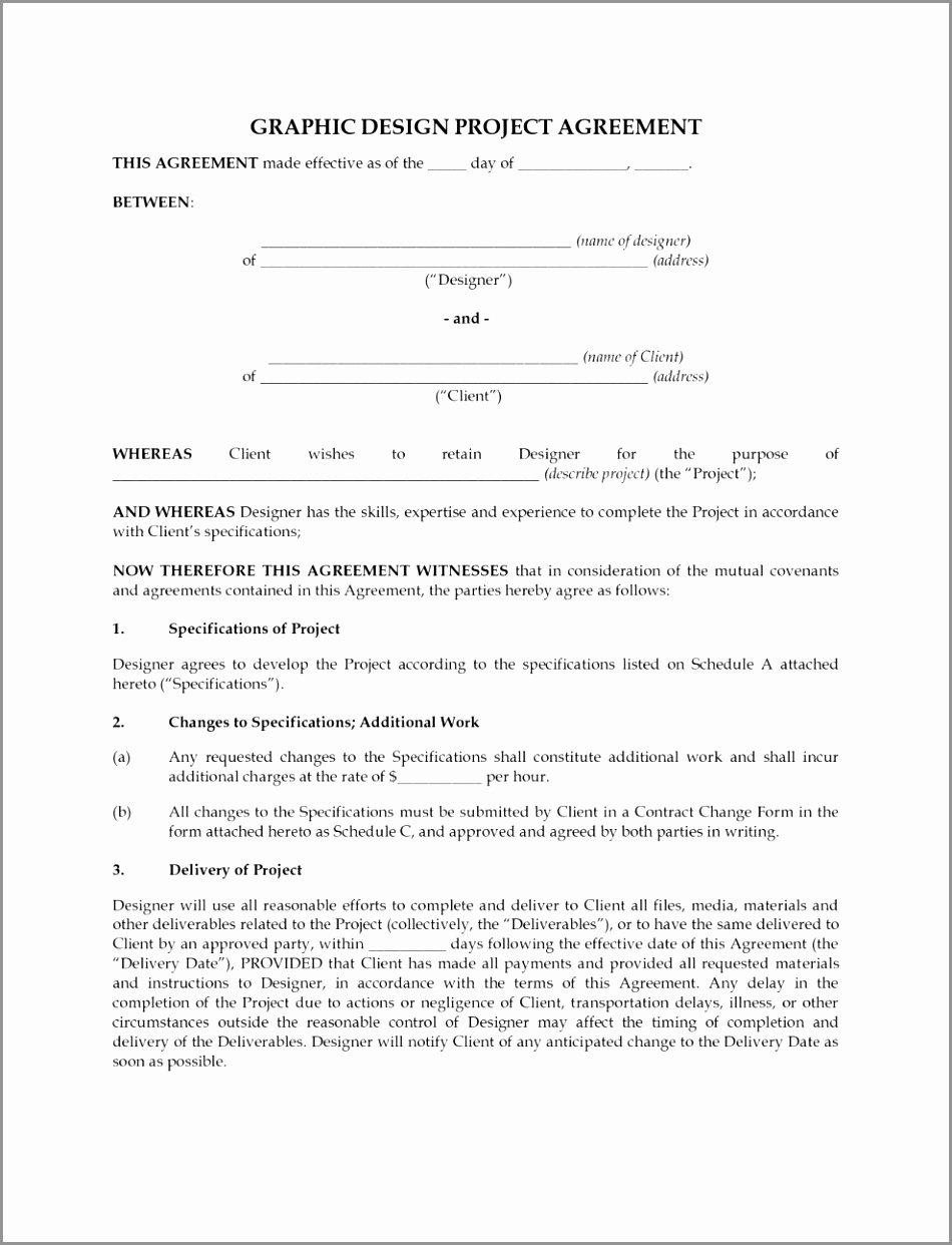 Graphic Design Contract Template Pdf Luxury 7 Freelance Graphic Design Contract Template Eyeoi