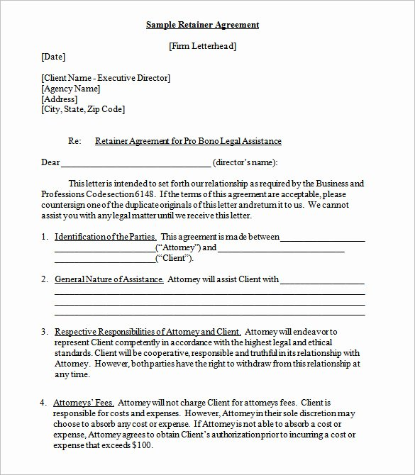 Graphic Design Contract Template Pdf Luxury Retainer Contract Templates Doc Pdf