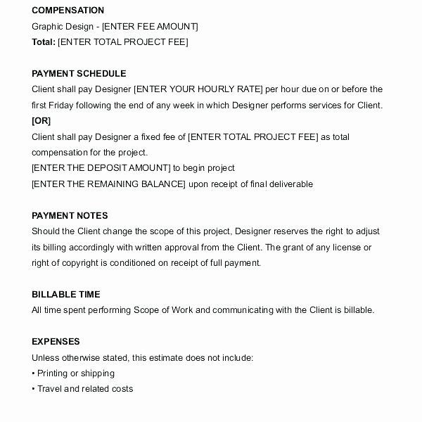 Graphic Design Contract Template Pdf Unique Freelance Graphic Design Contract Template Freelance