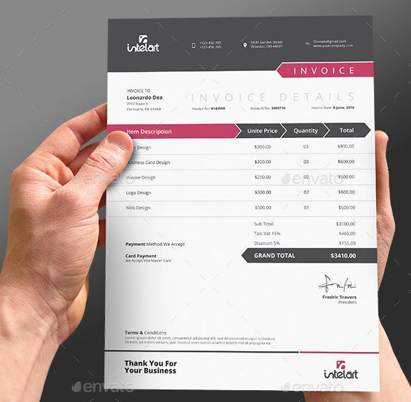 Graphic Design Invoice Template Indesign Elegant 37 Best Psd Invoice Templates for Freelancer