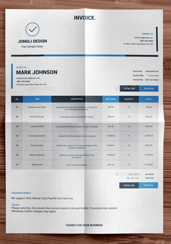 Graphic Design Invoice Template Indesign Elegant Graphic Design Invoice Template Indesign 10 Exciting Parts