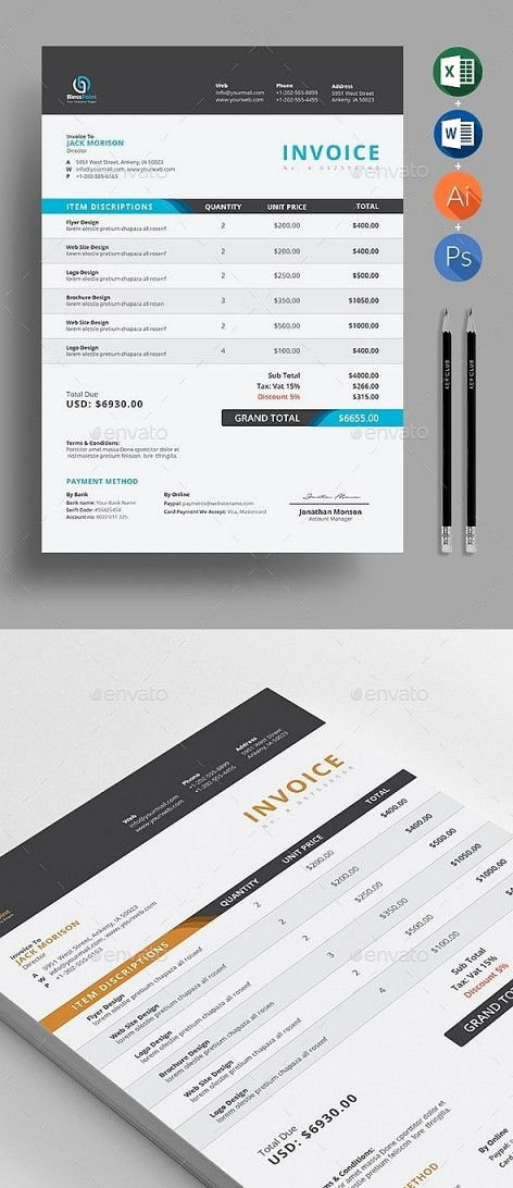 Graphic Design Invoice Template Indesign Fresh Indesign Invoice Template