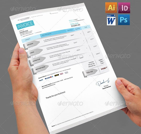 Graphic Design Invoice Template Indesign Inspirational 20 Creative Invoice & Proposal Template Designs