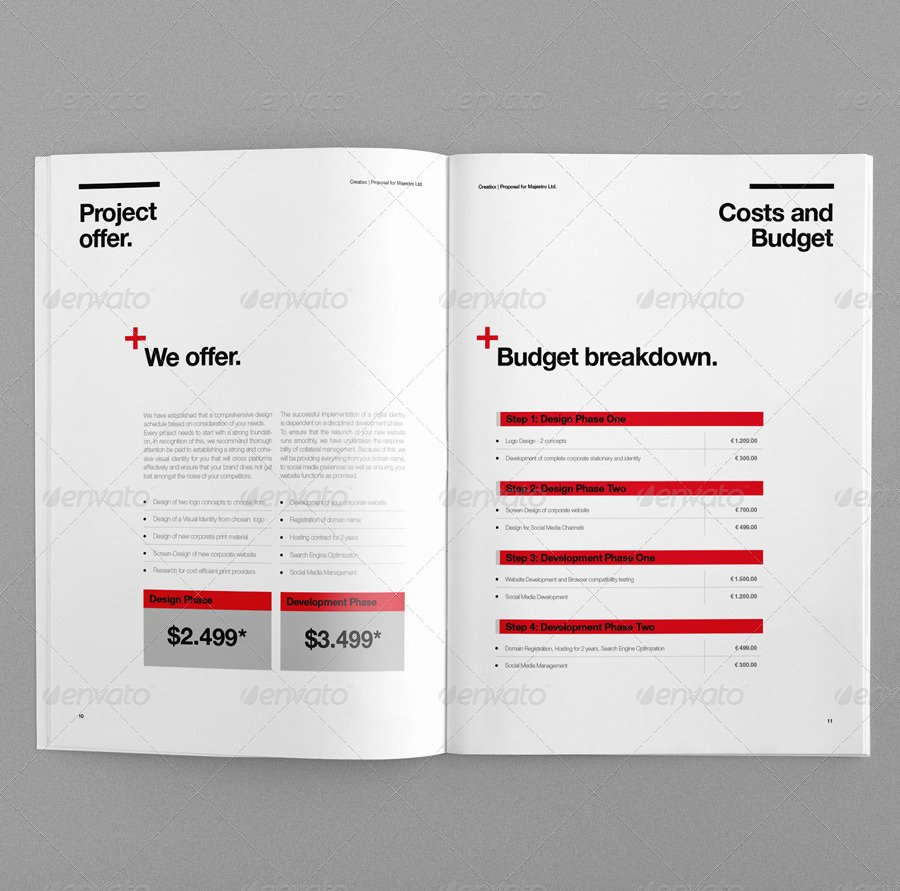 Graphic Design Invoice Template Indesign Unique Proposal by Egotype