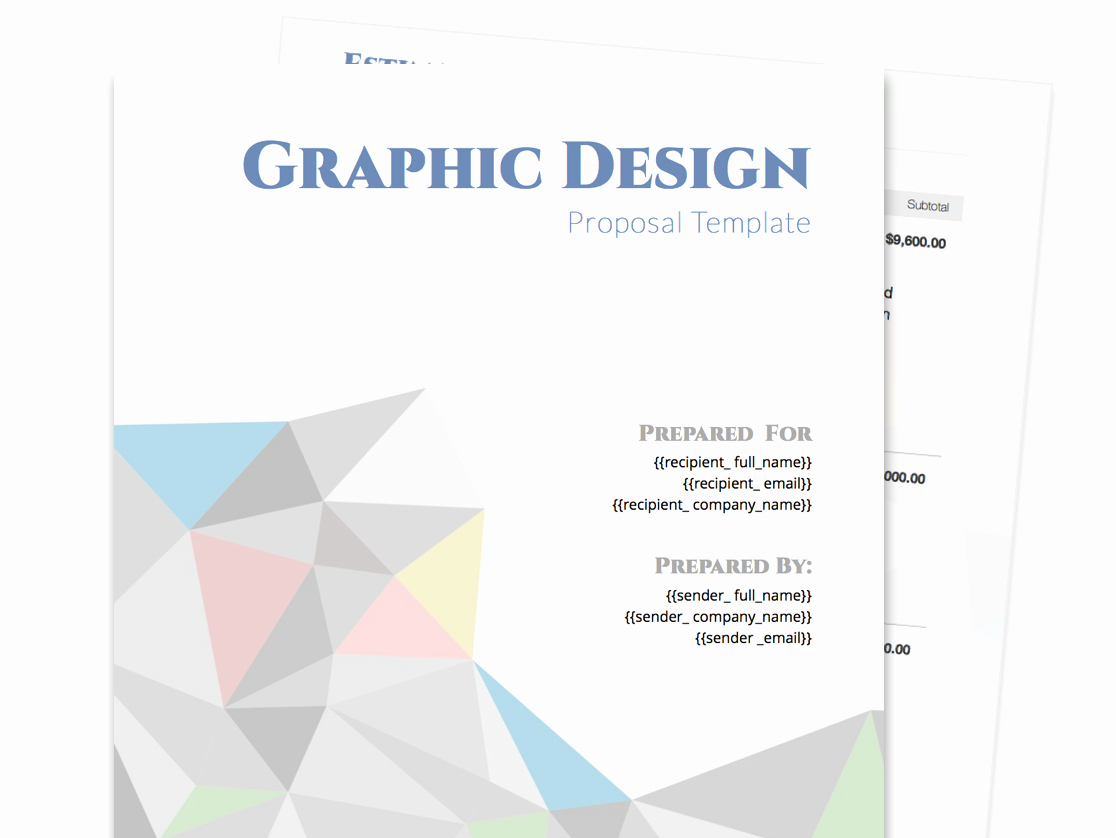 Graphic Design Proposal Template Awesome Free Business Proposal Templates