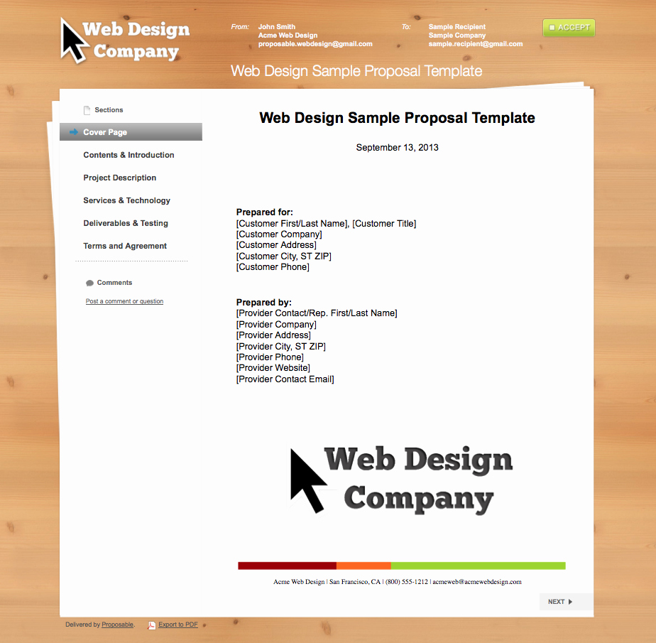 Graphic Design Proposal Template Best Of Business Proposal Templates the Proposable Blogthe