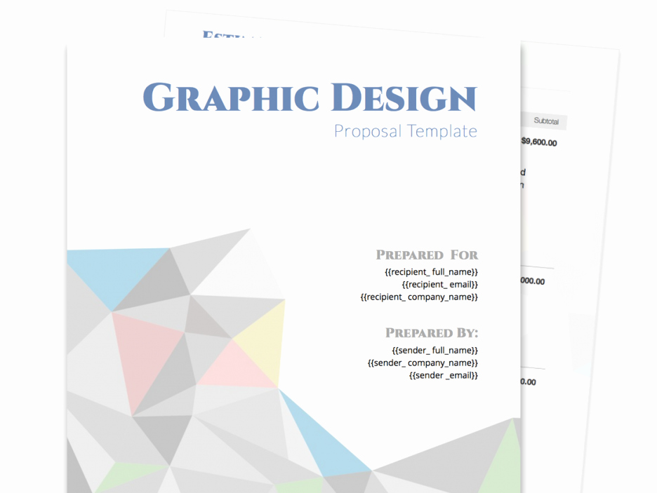 Graphic Design Proposal Template Best Of Free Business Proposal Templates Featuring Graphic Design