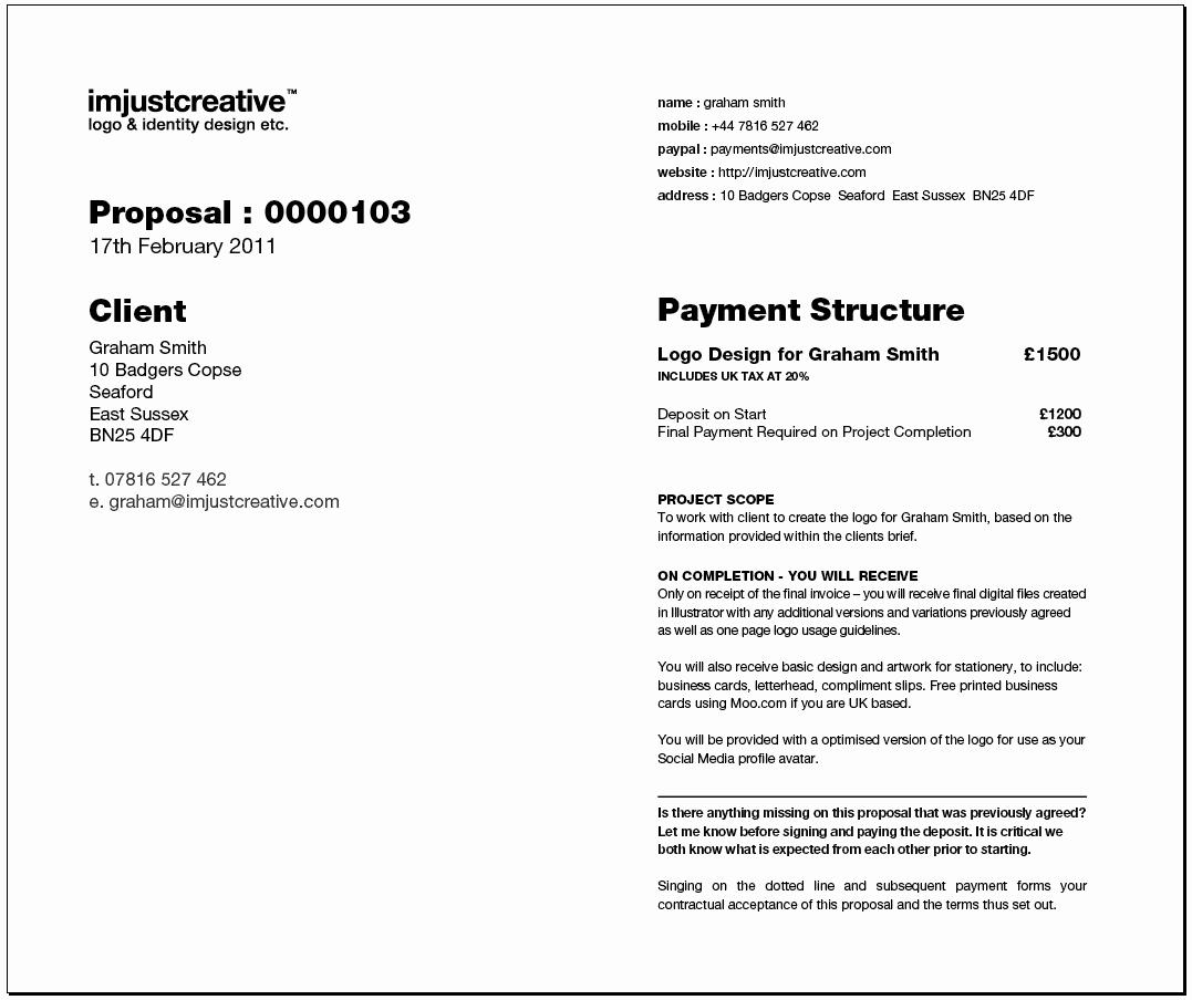 Graphic Design Proposal Template Elegant Freelance Graphic Design Proposal Template