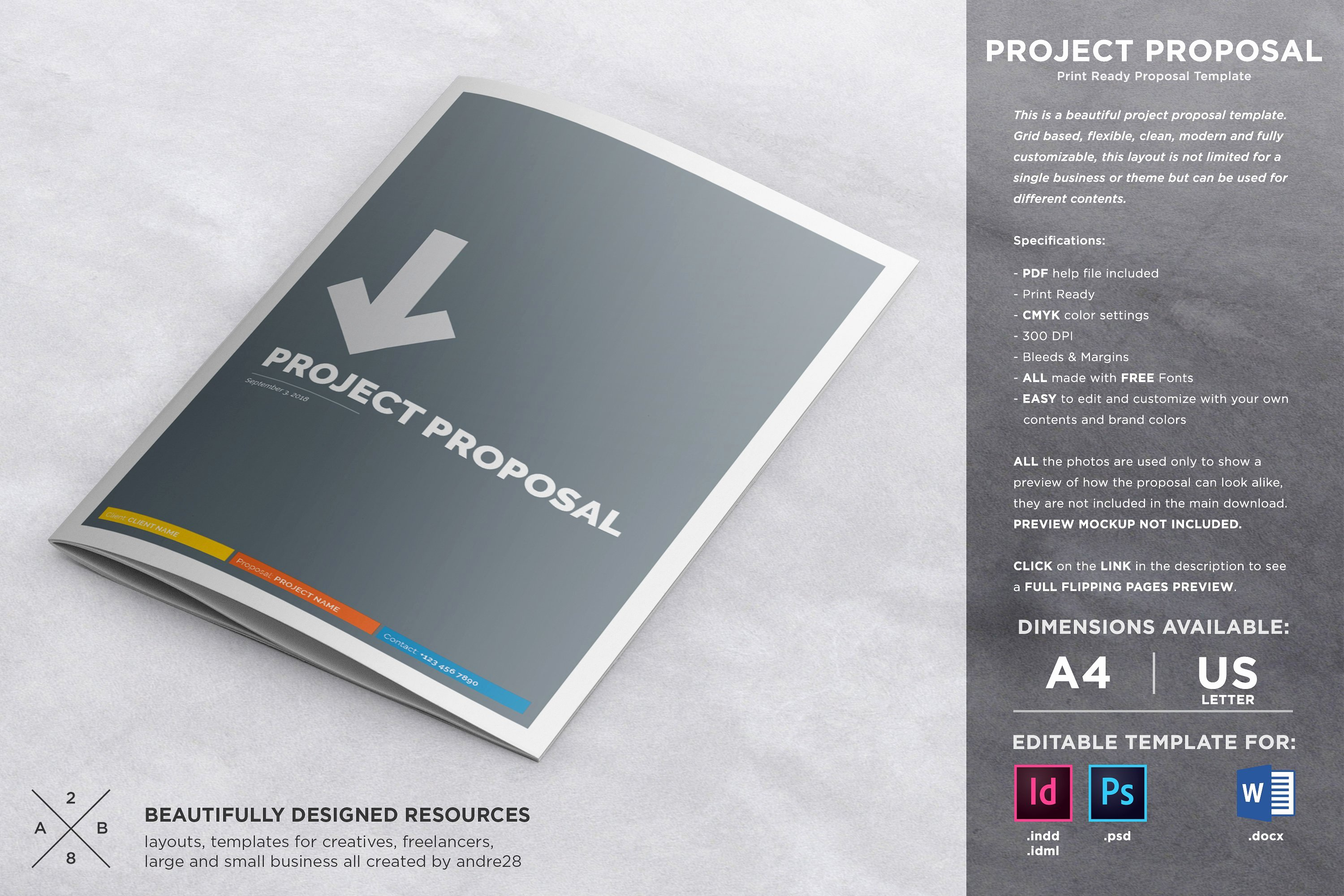 Graphic Design Proposal Template Inspirational Proposal Contract & Invoice Brochure Templates