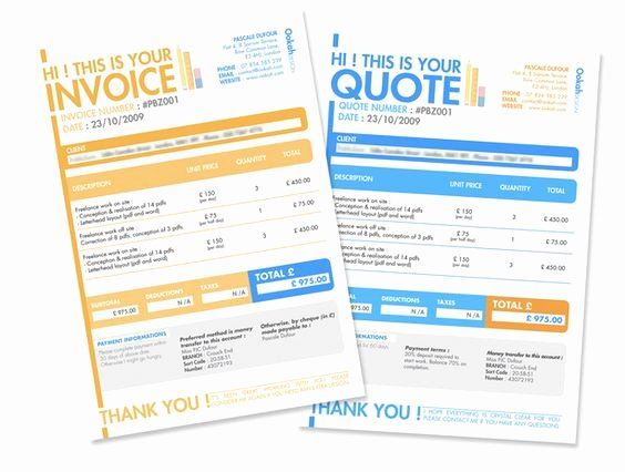 Graphic Design Quote Template Awesome 10 Creative Invoice Template Designs