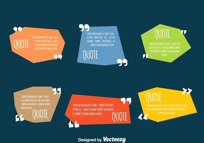Graphic Design Quote Template Luxury Colored Testimonial Quote Design Template Vectors