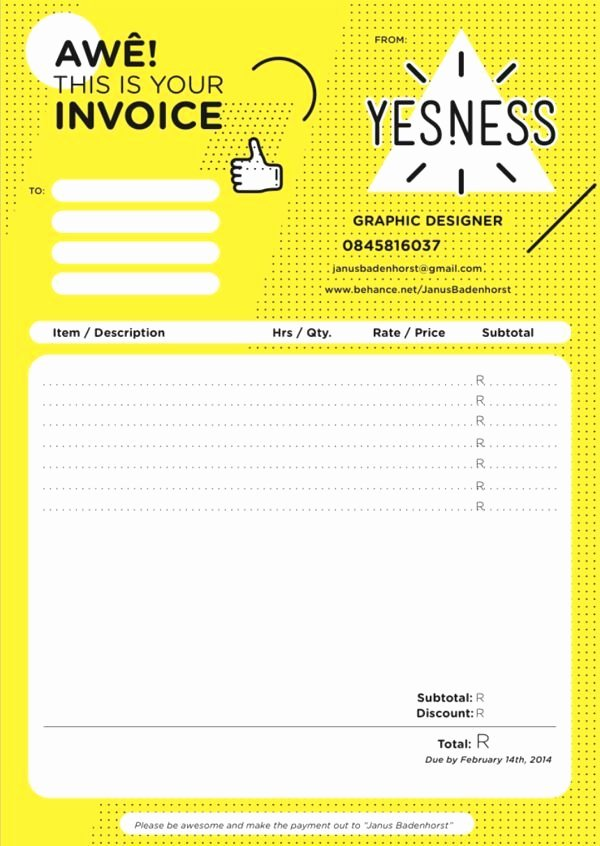Graphic Designer Invoice Template Awesome 25 Best Ideas About Invoice Design On Pinterest