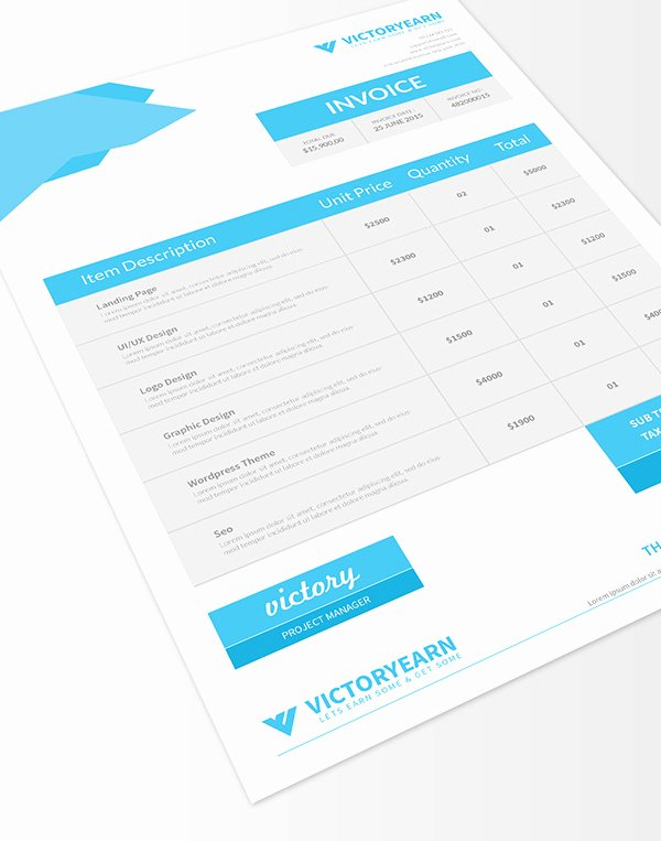 Graphic Designer Invoice Template Beautiful Freebies 25 New Useful Free Vector and Psd Files