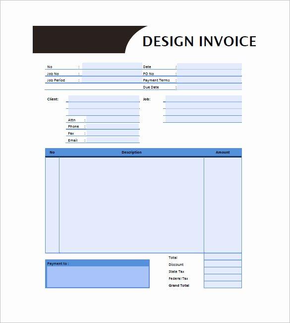 Graphic Designer Invoice Template Beautiful Graphic Design Invoice Template 13 Free Word Excel