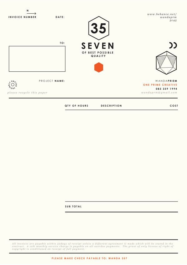Graphic Designer Invoice Template Inspirational Best 20 Invoice Design Ideas On Pinterest