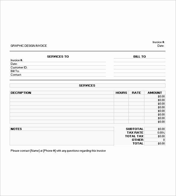 Graphic Designer Invoice Template New 7 Graphic Design Invoice Templates Doc Pdf