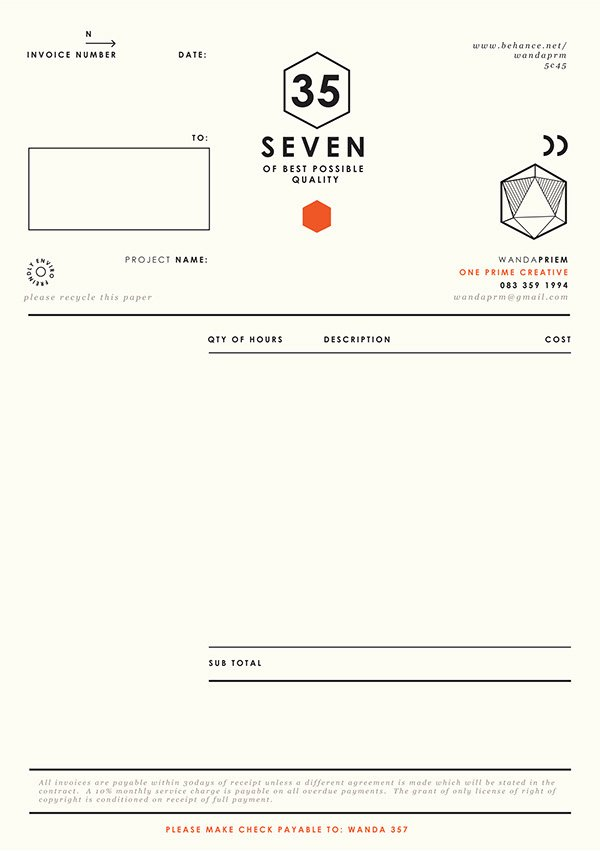 Graphic Designer Invoice Template New Graphic Designer Invoice Design