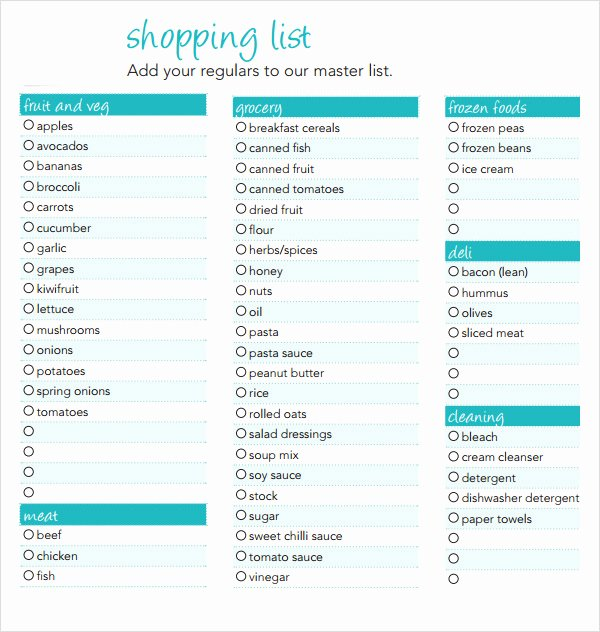 Grocery List Template Word New 8 Shopping List Samples Examples Templates
