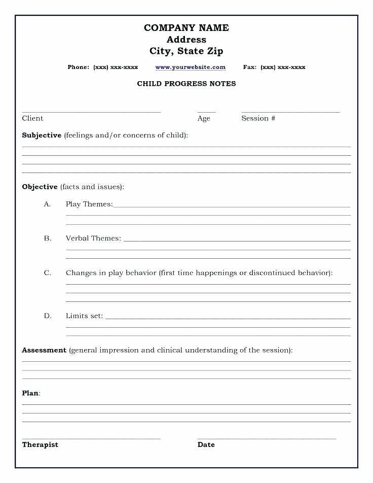 Group therapy Notes Template Lovely 98 Group therapy Progress Note form therapy Progress