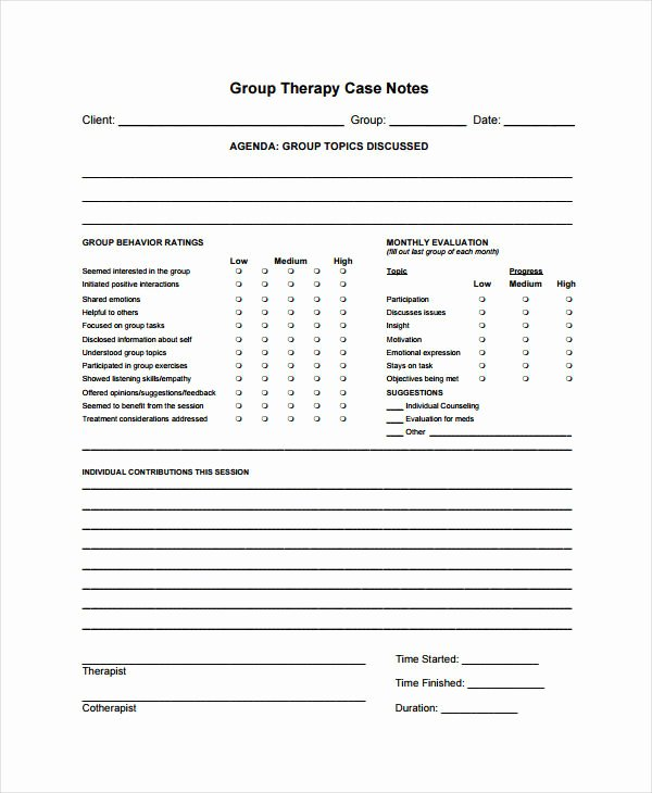 Group therapy Notes Template New 24 Note Examples & Samples In Pdf