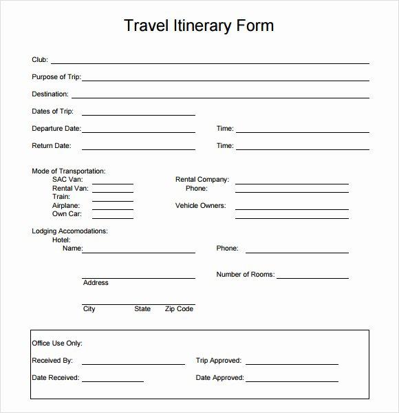 Group Travel Itinerary Template Beautiful Travel Itinerary Template 7 Download Documents In Pdf Word