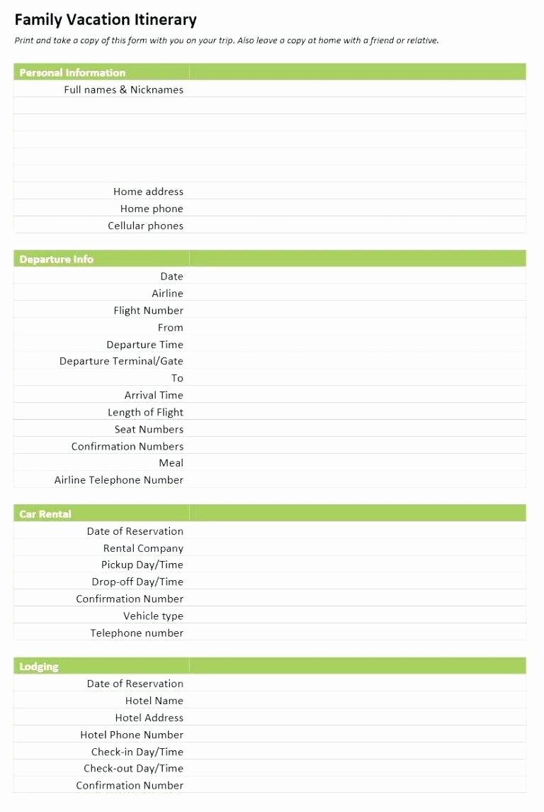 Group Travel Itinerary Template Fresh Template Risk assessment Management Plan Template