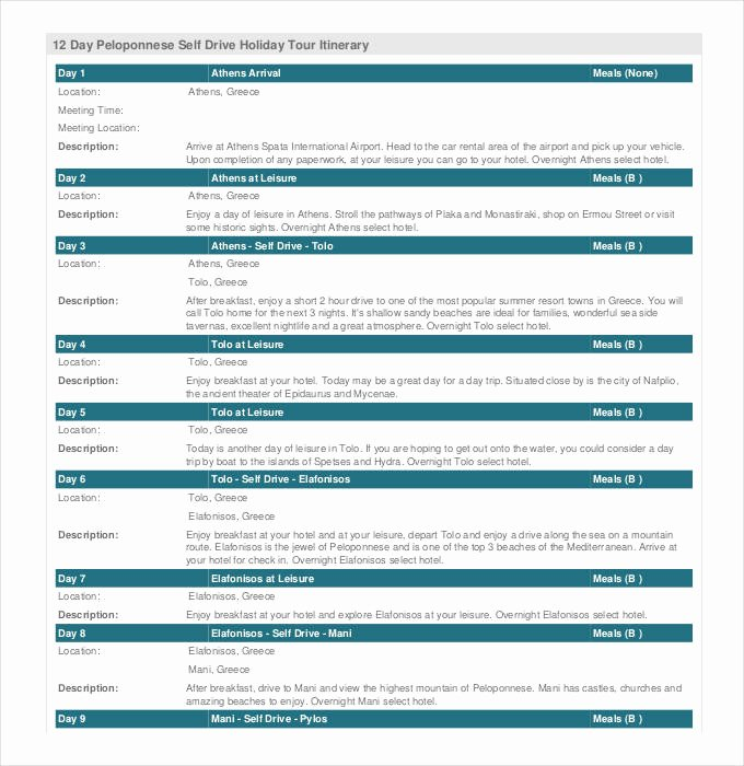 Group Travel Itinerary Template New 33 Trip Itinerary Templates Pdf Doc Excel
