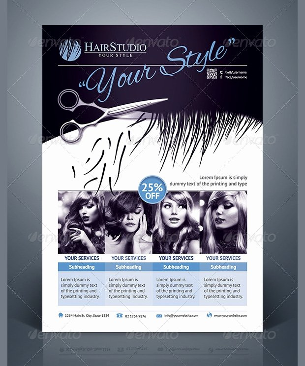 Hair Flyers Free Template Awesome 27 Hair Salon Flyer Templates Printable Psd Ai Vector