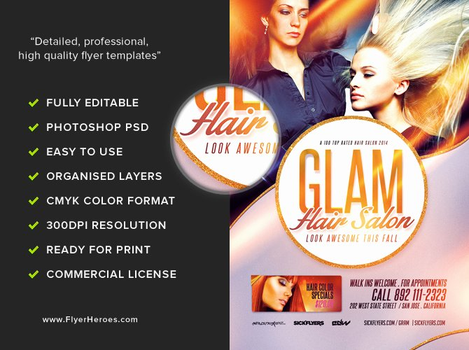 Hair Flyers Free Template Awesome Salon Flyer Template Flyerheroes