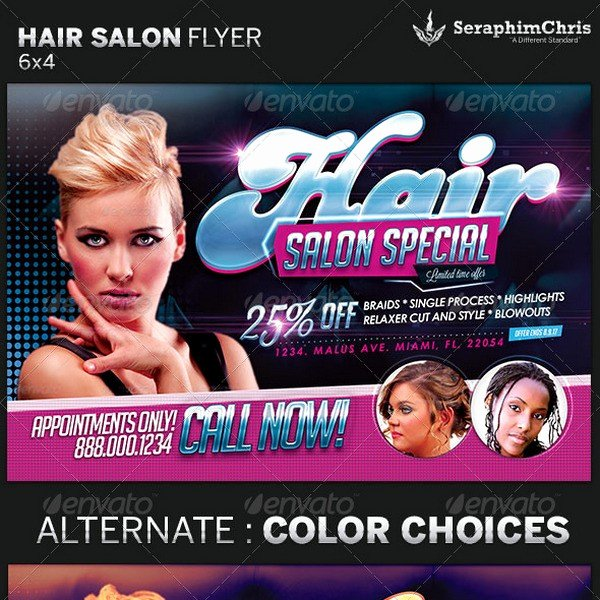 Hair Flyers Free Template Beautiful Beauty Salon Flyer Template Repliquemontres