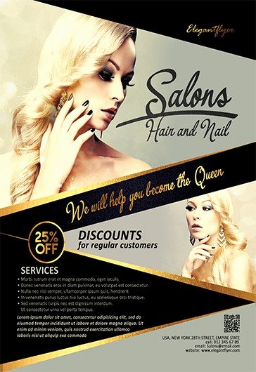 Hair Flyers Free Template Beautiful Beauty Salon Flyer Templates Psd Free Download New Design