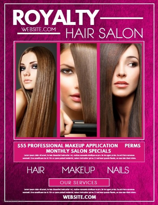 Hair Flyers Free Template Beautiful Copy Of Hair Salon