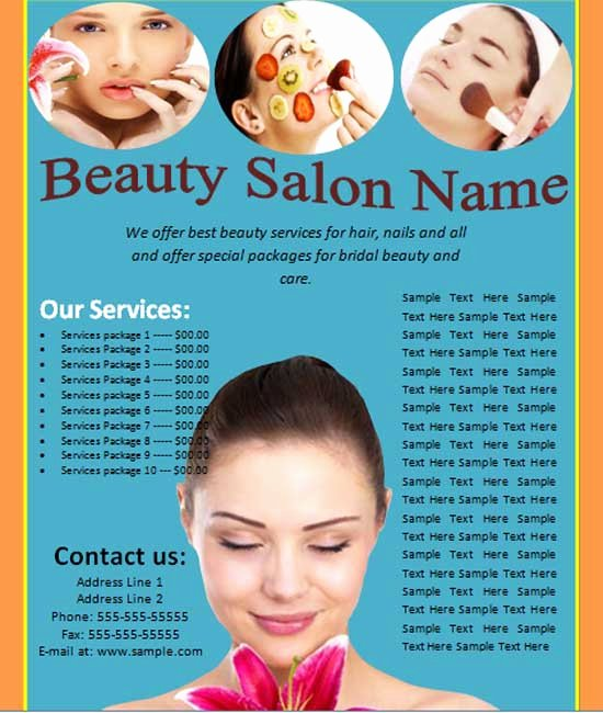 Hair Flyers Free Template Best Of 25 Free Business Flyer Templates to Suit Your Business