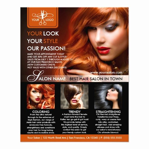 Hair Flyers Free Template Best Of Hair Salon Hair Stylist Flyer Template