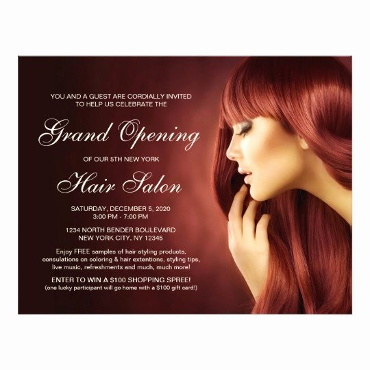 Hair Flyers Free Template Elegant Hair Salon Grand Opening Flyer Templates