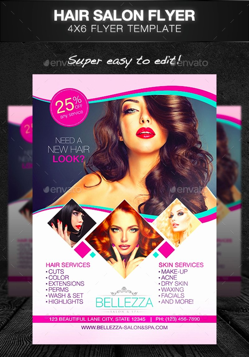 Hair Flyers Free Template Fresh 15 Beauty Salon Flyer Designs & Examples Psd Ai