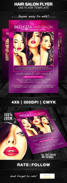 Hair Flyers Free Template Fresh Hair Salon Pro Bussines Promotional Flyer