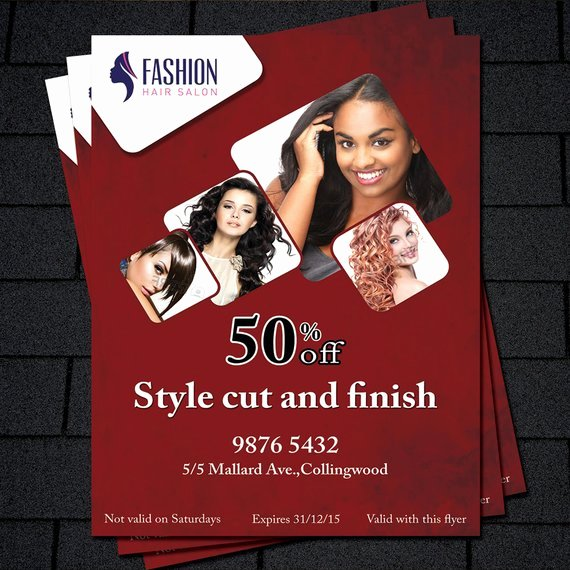 Hair Flyers Free Template Fresh Printable Flyer Template Hair Salon Flyer Beauty Salon Flyer