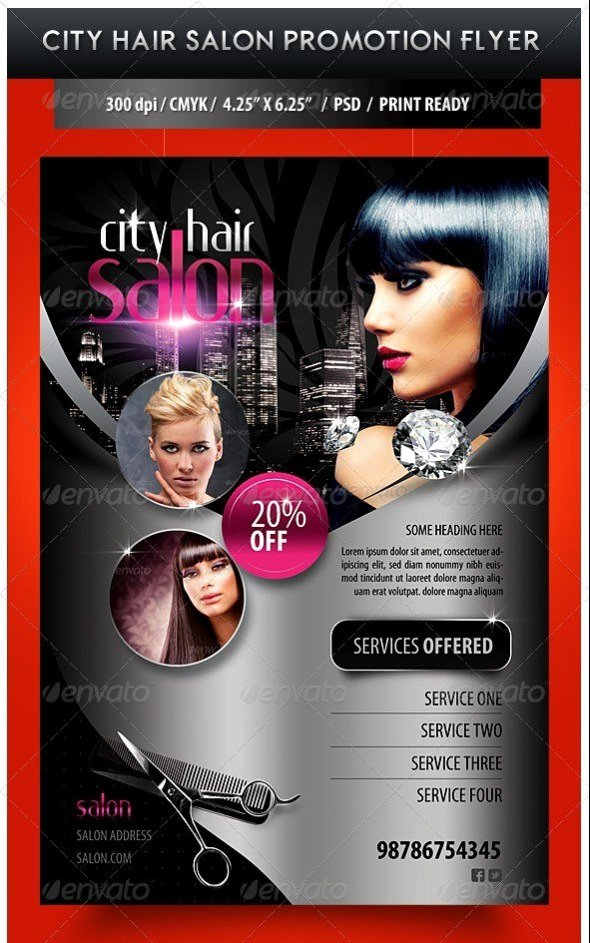 Hair Flyers Free Template Inspirational 75 Free Flyer Templates Shop Psd Download