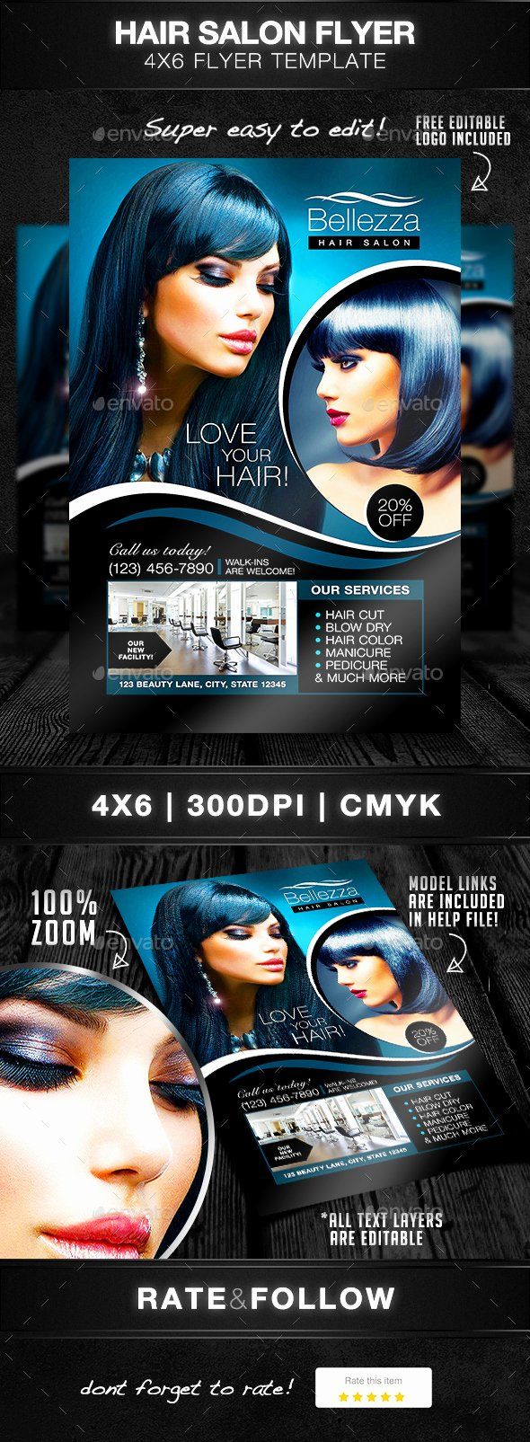 Hair Flyers Free Template Lovely Hair Salon Flyer Template by Designsbydior