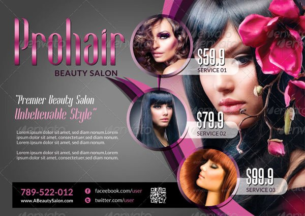 Hair Flyers Free Template New 20 Examples Of Rack Card Designs Psd Ai Vector Eps