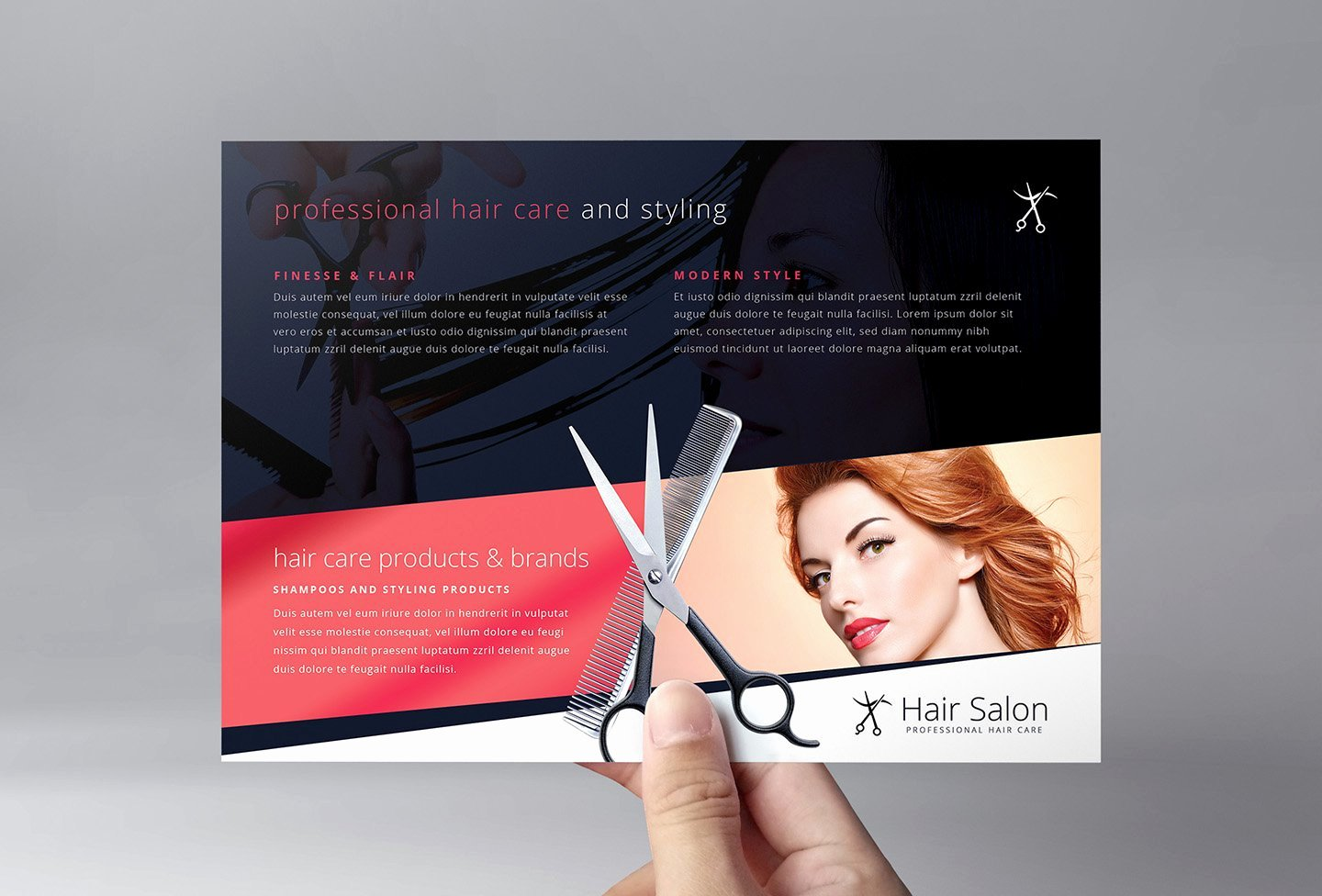 Hair Flyers Free Template New Hair Salon Flyer Template Flyer Templates Creative Market