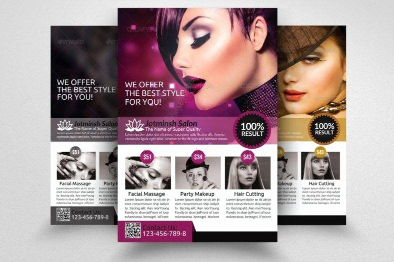 Hair Flyers Free Template Unique 17 Hair Salon Flyer Designs & Templates Psd Ai