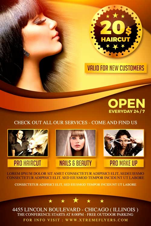 Hair Flyers Free Template Unique Hair Salon Flyer Template Xtremeflyers