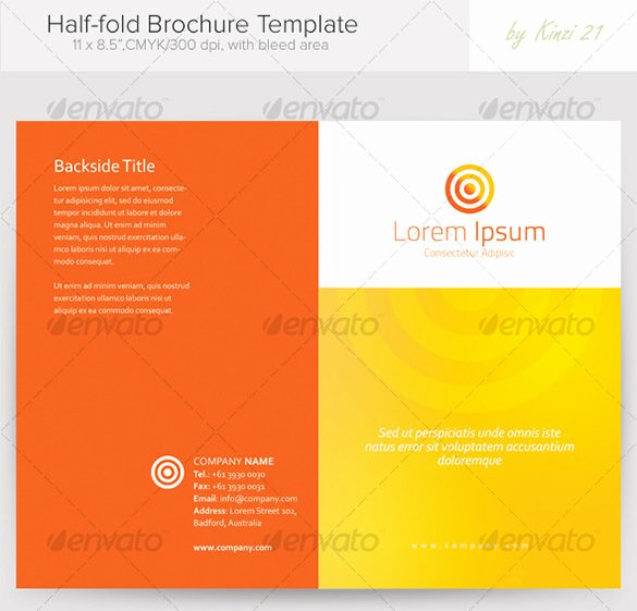 Half Fold Brochure Template Beautiful 36 Half Fold Brochure Templates