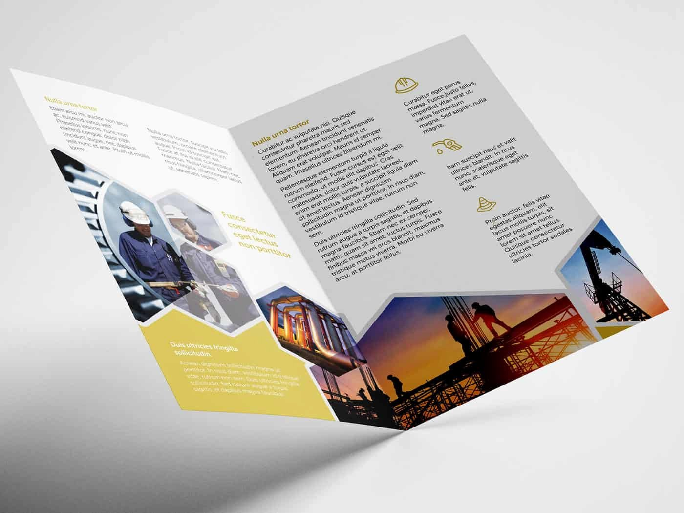 Half Fold Brochure Template Best Of Half Fold Oil and Gas Brochure Template On Vectogravic Design
